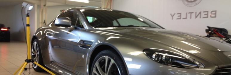 Aston Martin noch vor der Auslieferung versiegelt.
